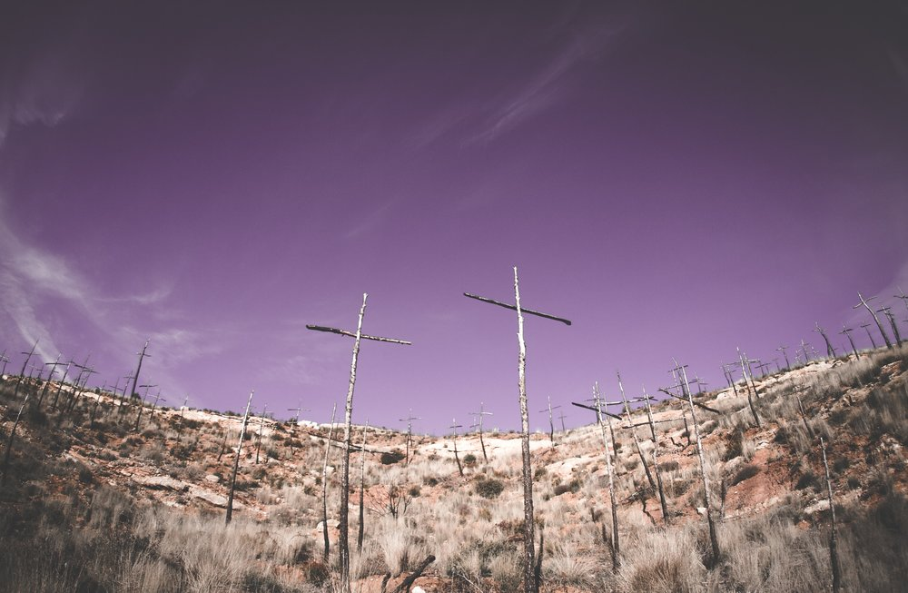 Crosses on Hillside