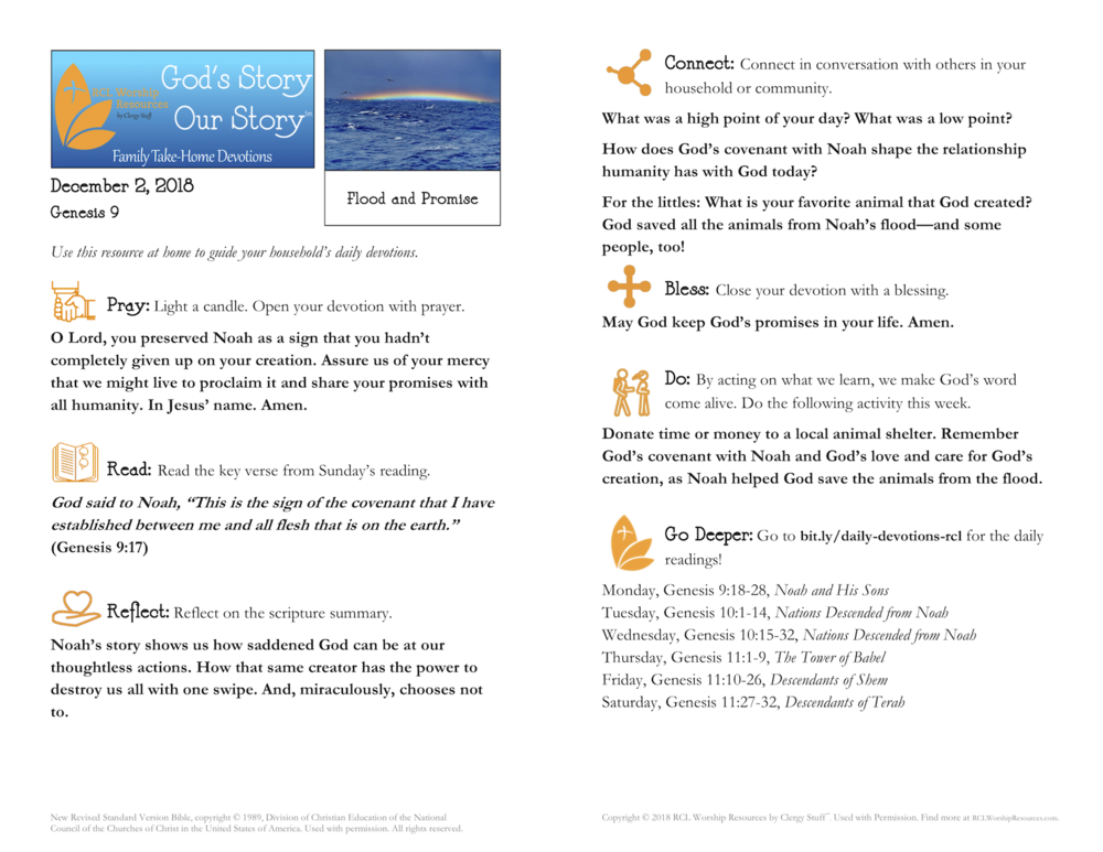 God's Story–Our Story™ Family Take-Home Bulletins
