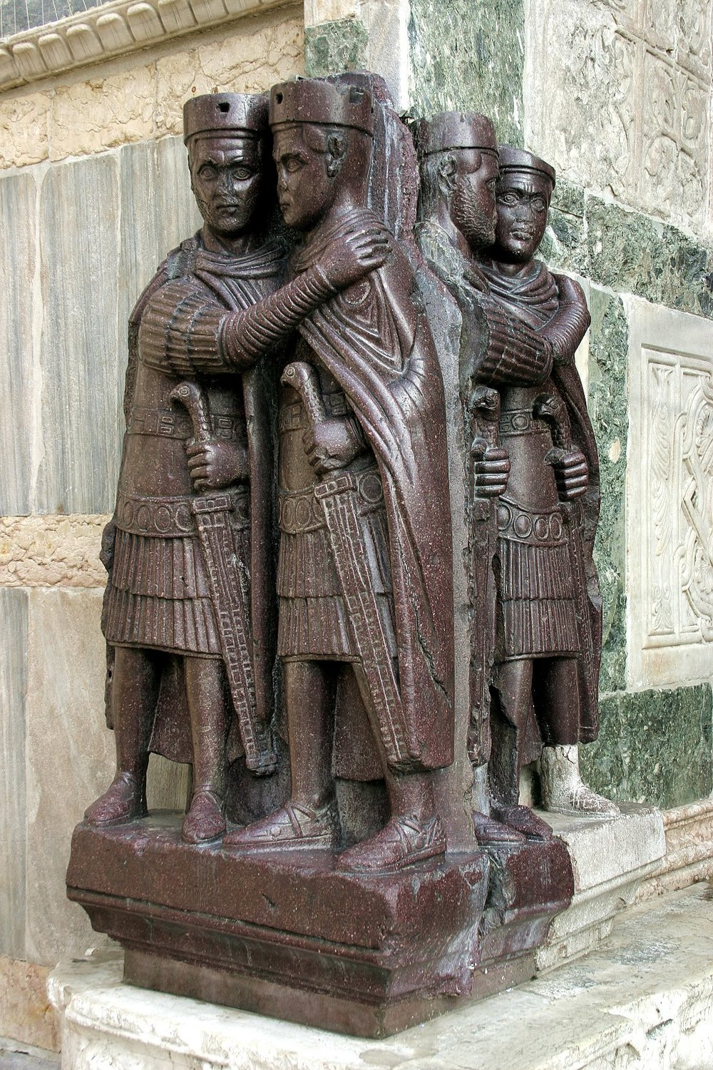 The tetrarchs getting friendly. These are the four tetrarchs from the fourth century, slightly different from the Herodian Tetrarchy.
