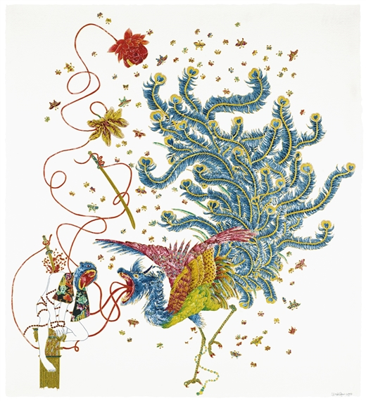 Raqib Shaw's Death, Beauty and Justice III