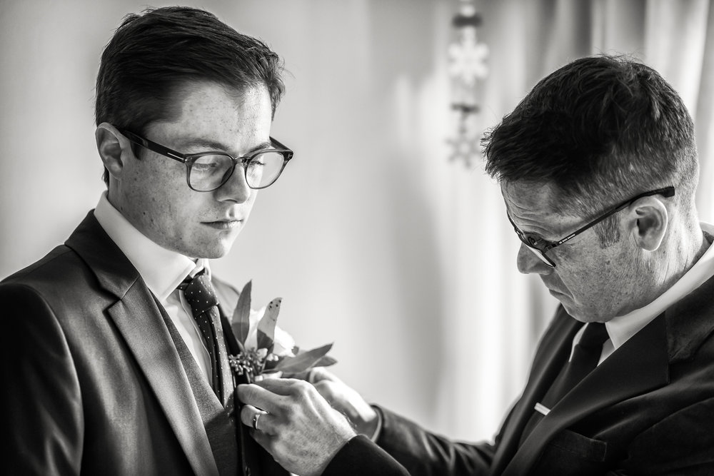 Photo by Rafe Abrook. Giving grooms their chance to shine, in a manly way.
