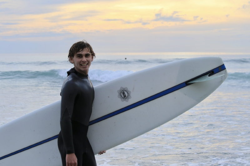 """Will Allen, 18, South Bay, Rides for  81  & Bing Surfboards """"The conditions were butter and the crowd was minimal."""""""