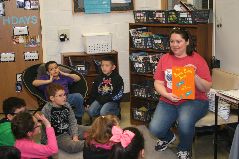 - Mystery Reader for Mrs. Cusmano's fourth grade class during March's Read Month