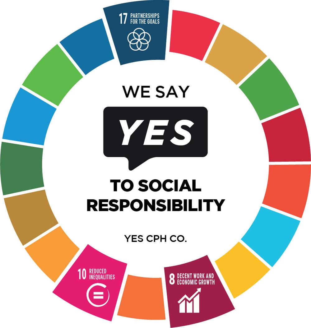 YES-klistermærke - Vores YES-klistermærke gør det synligt for alle, at I er en socialt ansvarlig virksomhed