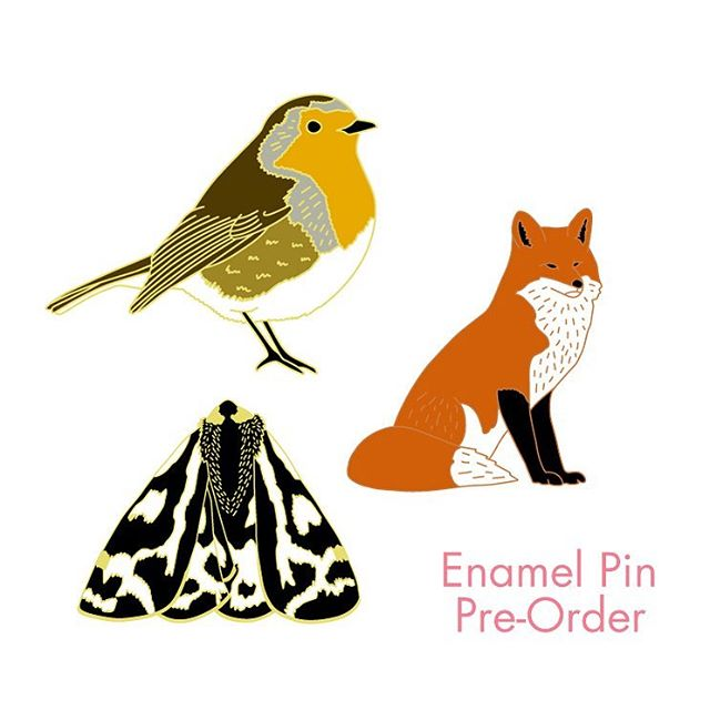If you've seen my stories lately, you will have seen these new enamel pin designs! I asked if you'd like to be able to pre-order them, and got a resounding yes! So there is now a listing in my @Etsy shop to@pre-order!  They are currently being made and should be with me within the next 2 weeks! Link to my shop in profile! x