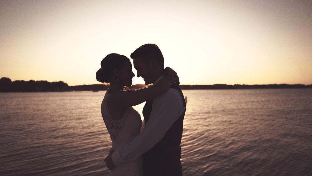 A Beautiful Sunset in Okoboji Iowa during the wedding of Brianna and Matt.