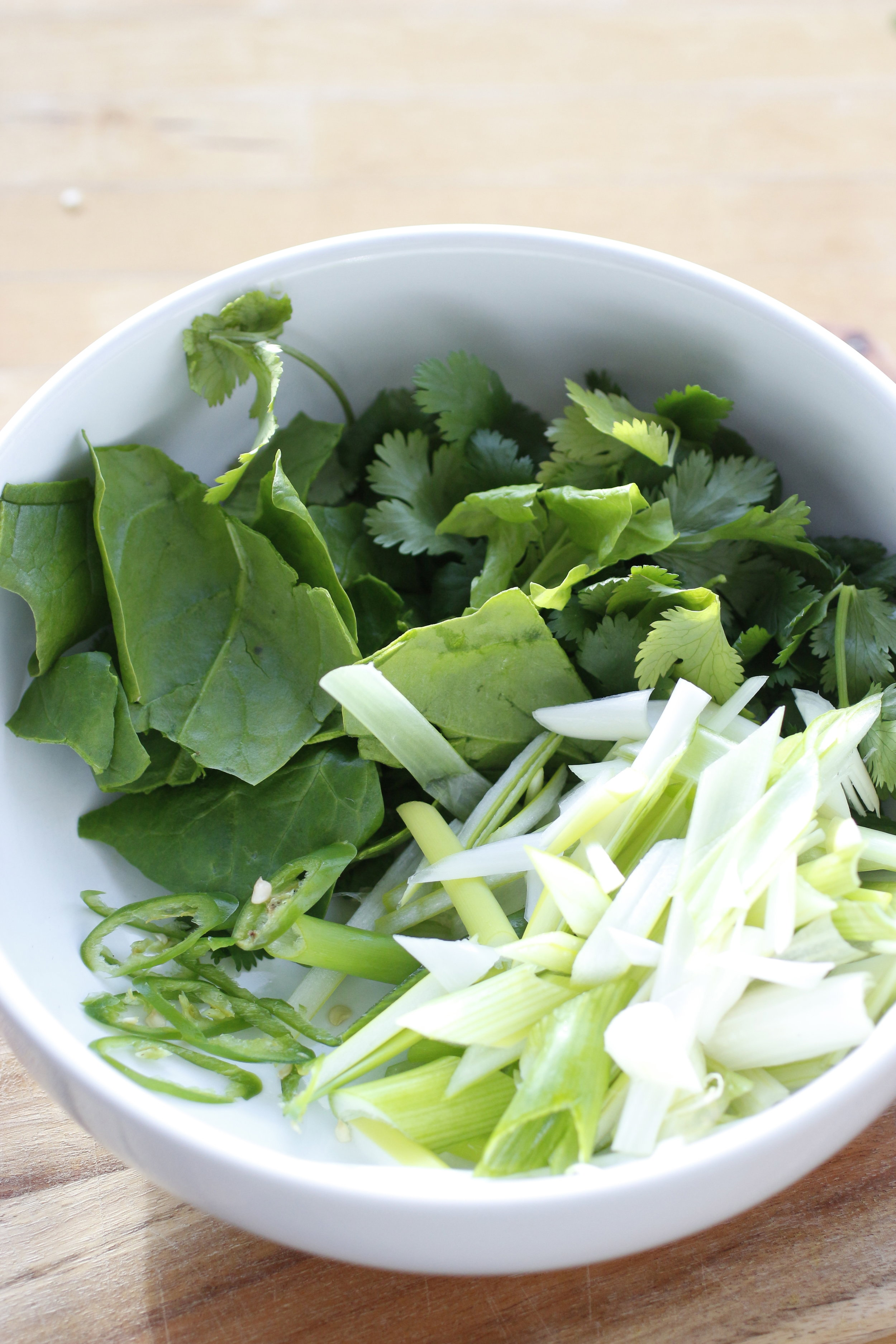 Leafy Greens for soup