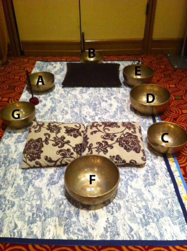 Healing Tibetan Bowl set-up