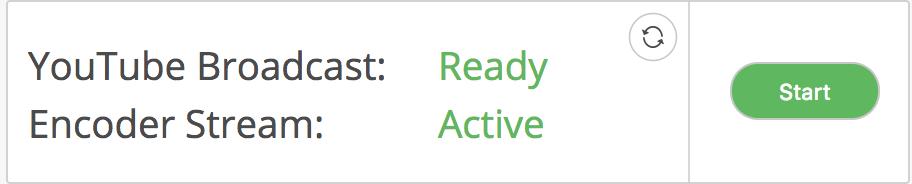 Active start button screenshot