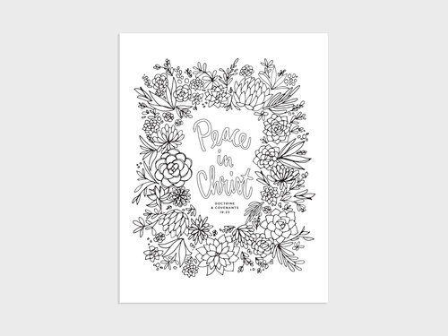 2018 Lds Young Women Theme 2018 Peace In Christ Coloring Page