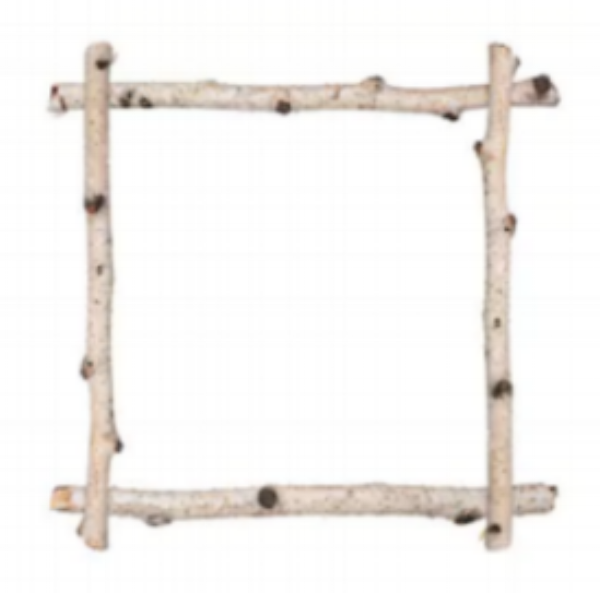 I love the idea of using twigs instead of a frame if it is going to be used at camp....how cute would this be! -