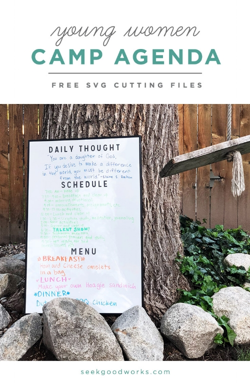 seek good works - free cutting files - camp agenda