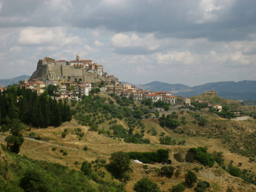 the view of noepoli from the neighboring village - our residence sits at the very top of this ancient village.