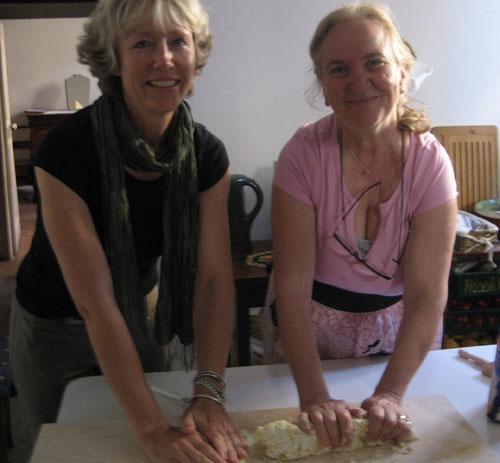 pina caprara showing me the ways of gnocchi - i'm faking it.