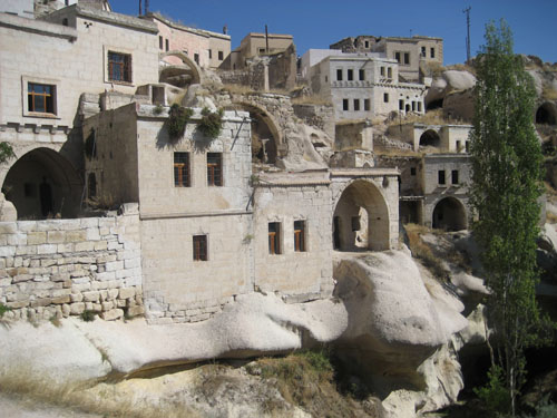 the village of ibrahimpasa, layers of cave dwellings and stone houses