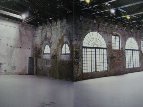 a large scale photo of the arsenale building before the installations - the building itself was hard to compete with - gorgeous!