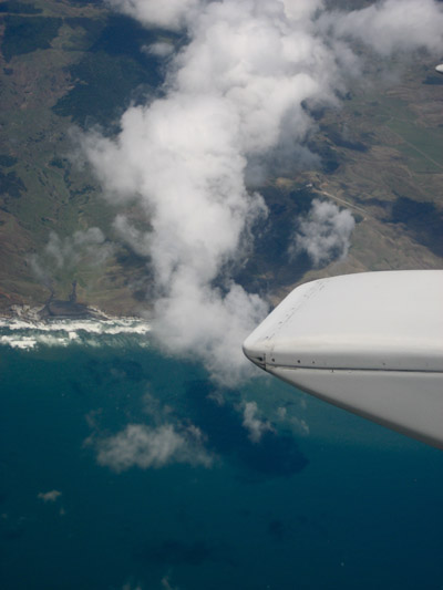 Birdseye View of the New Zealand coast.