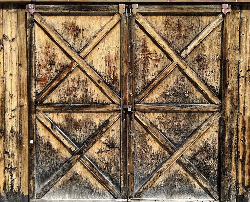 Barn doors at Grand Encampment, Wyoming