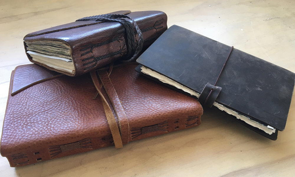 Old and new journals - the one on the right is itching to be ravaged.