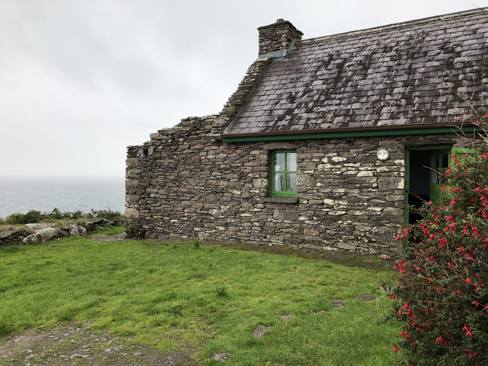 My cottage on the side of the cliff at Cill Rialaig Artists Retreat.