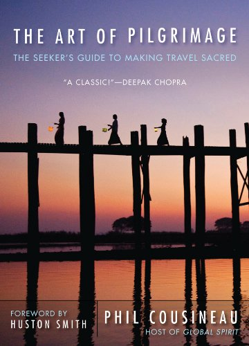 The Art of Pilgrimage: The Seekers Guide to Making Travel Sacred. Phil Cousineau   This is one of my favorite books on traveling with intention and making each journey a pilgrimage. Phil Cousineau spent many years working with Joseph Campbell and is equally adept at seeing the mythology and sacred in all things. My copy of this book has more flags than pages, if that's possible.