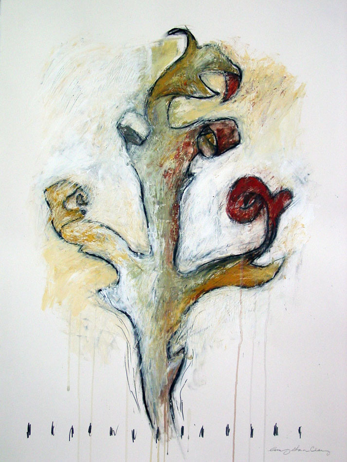 Leaf Series 4 Charcoal and acrylic on paper©Amy Guion Clay