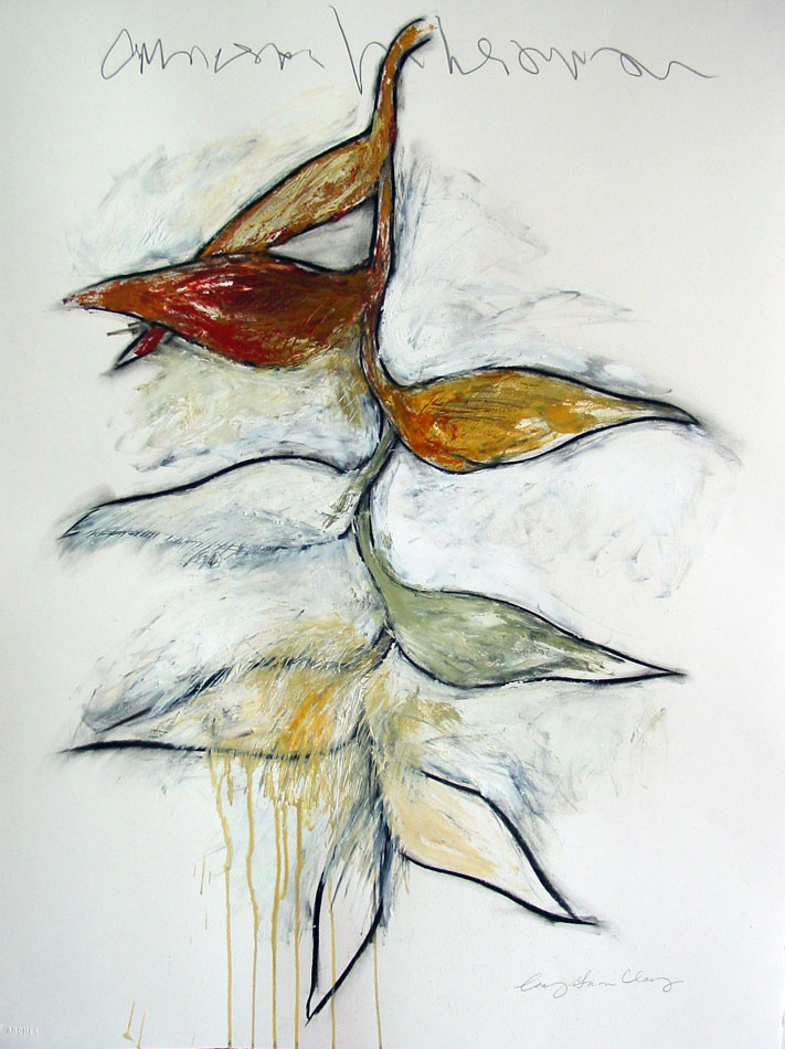 Leaf Series 1 Charcoal and acrylic on paper ©Amy Guion Clay