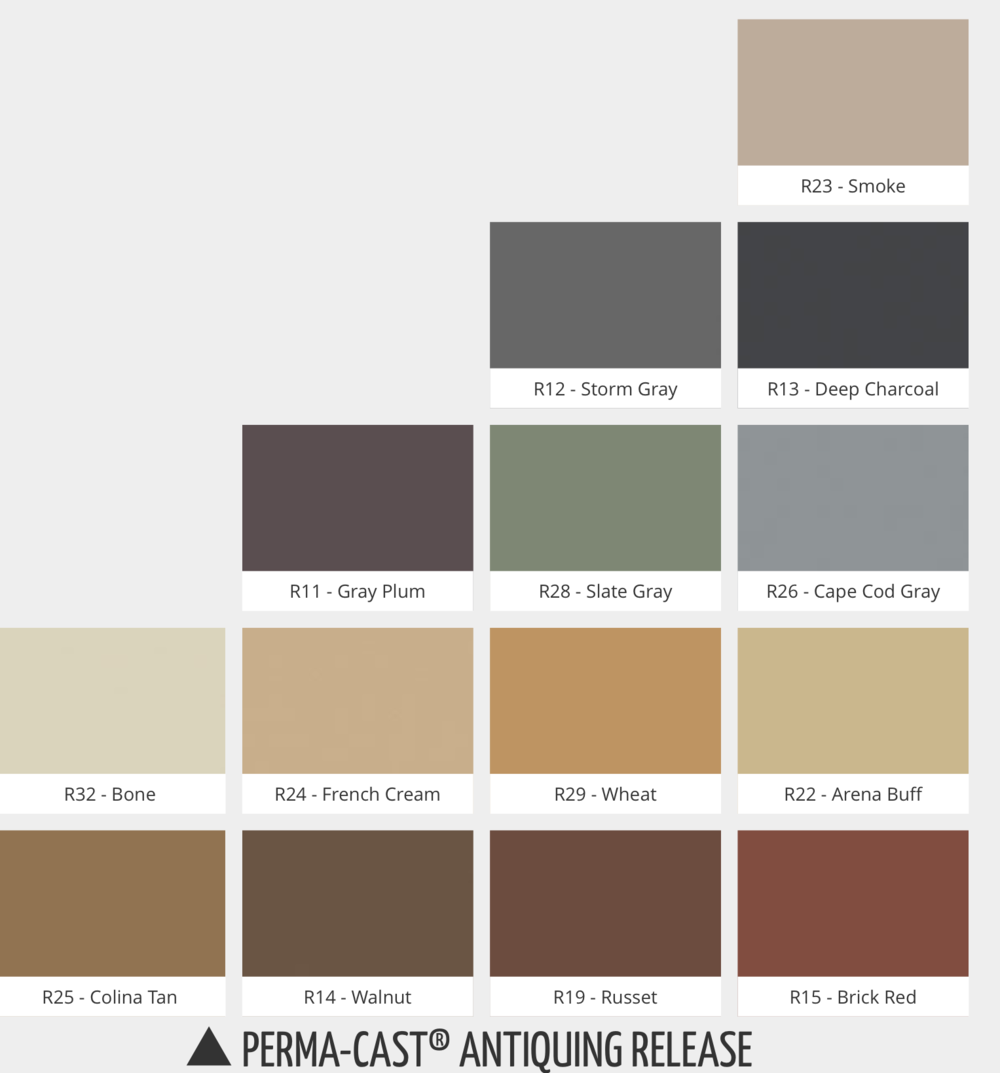 Color Chart Concrete