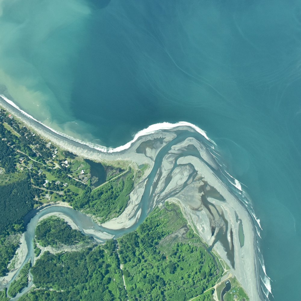Aerial view of the Elwha nearshore (April 2016) by Sam Beebe
