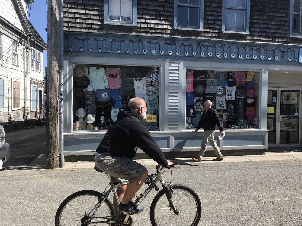Spring Bike Ride on Commercial Street - Provincetown Bicycle Committee - April 2018.JPG