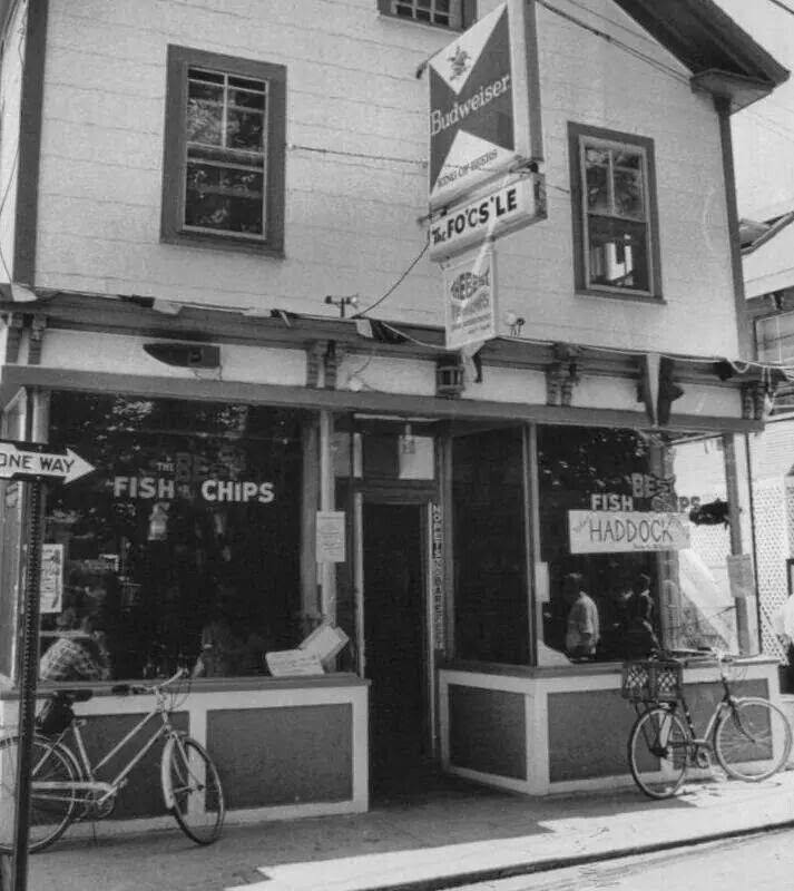 Bikes outside the Fo'c'sle circa 1970 - My Grandfathers Provincetown - Jeffrey Philbrick