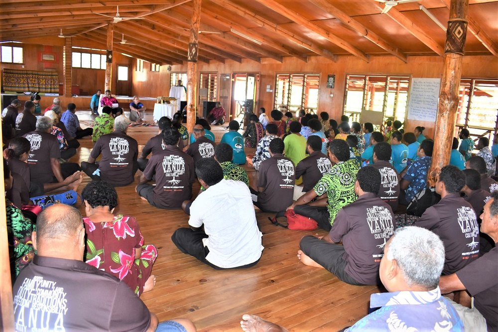 Welagi community hall packed for the launch.JPG