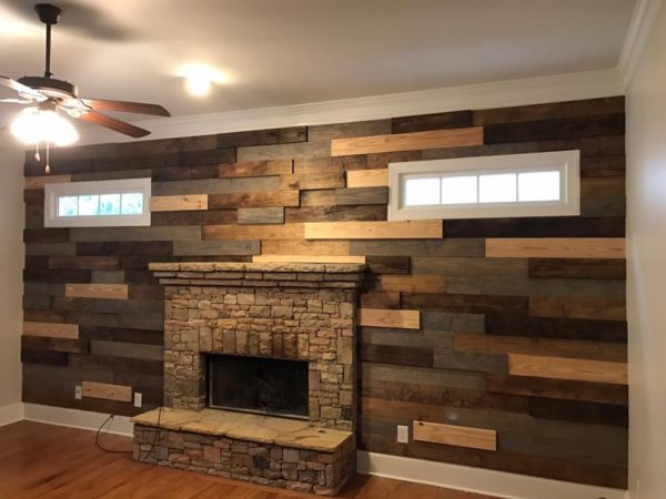 Shiplap/Plan k - Our plank walls are custom in every sense of the word.  We custom fit every piece to perfectly cover the wall as well as we will custom stain to match the existing room decor.  These custom plank walls will change the look of any room.