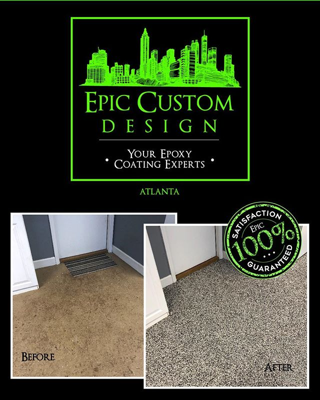 Experience the difference. Call Epic today. 1-844-404-EPIC #atl #clt #epoxy #404epic #704epic #garagefloor #epoxyfloor