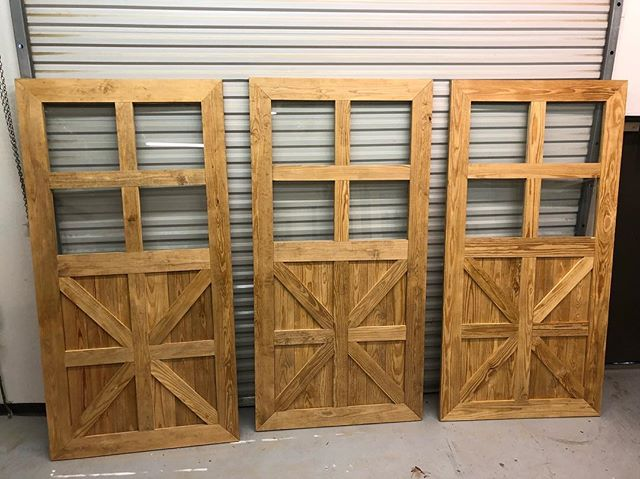 The three amigos are headed out tomorrow to finally be installed #404epic #704epic #barndoor #barndoors #atl #alpharetta