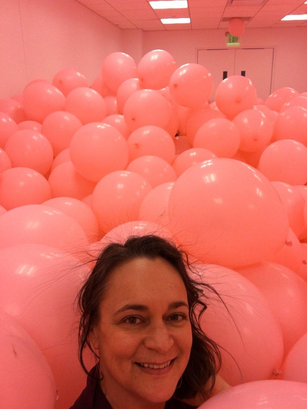 Selfie in the PlayTime exhibit