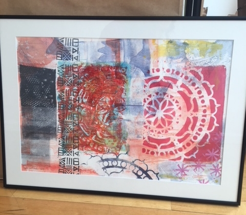 "My print ""Mandala: Peace"" ready for hanging"
