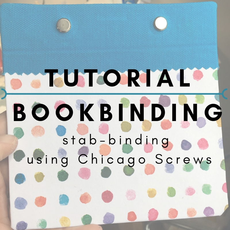 Tutorial: Bookbinding - Stab Binding  In this tutorial I am sharing a simple stab binding for a blank book or journal. With this style of book, you can remove pages to work on or add new pages as you need to. The posts are easy to find at any art supply store or online. I have a ton, so email me if you'd like me to send a set your way!