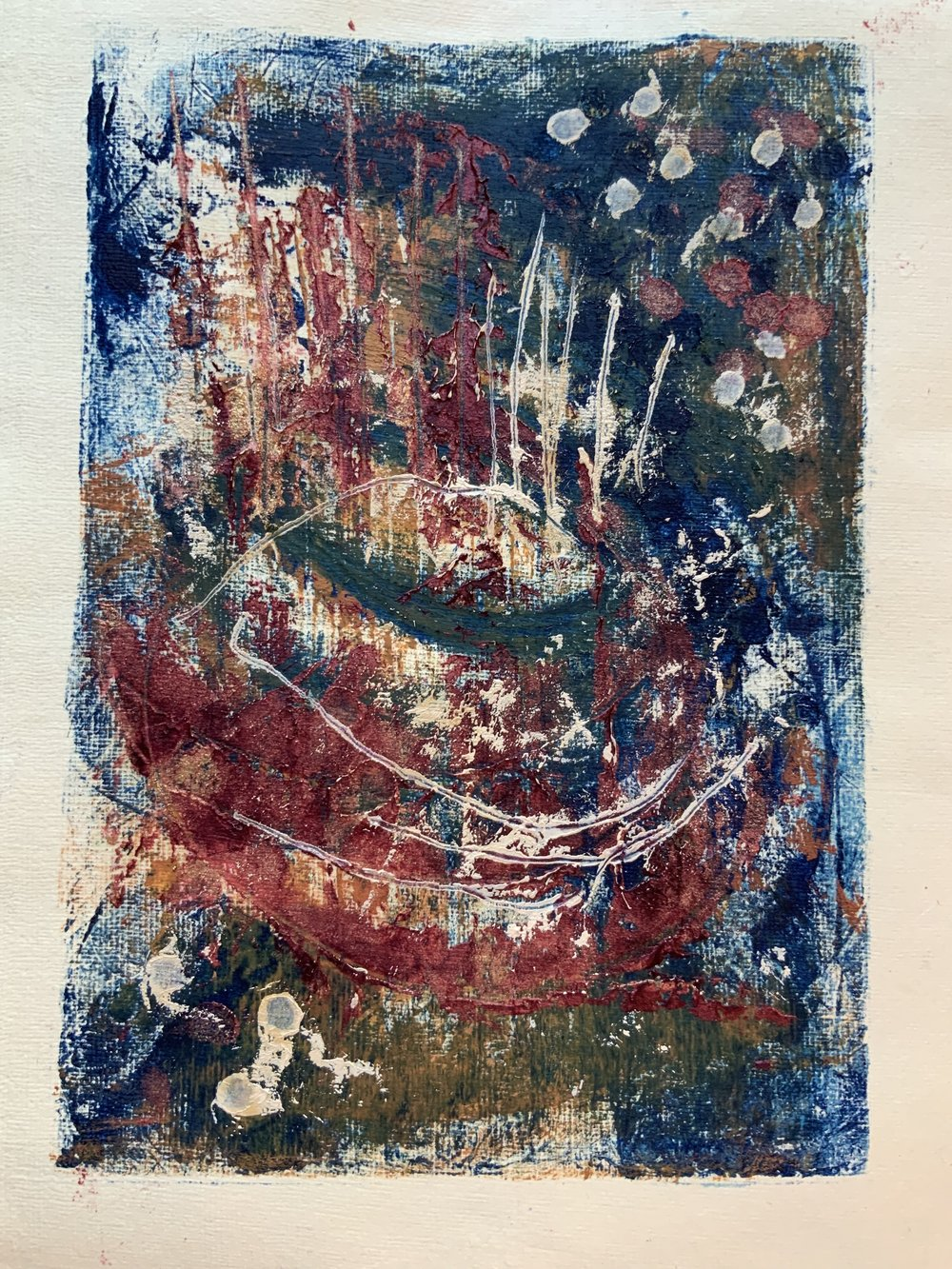Marsh Side, from the line and pattern series, monotype 2019
