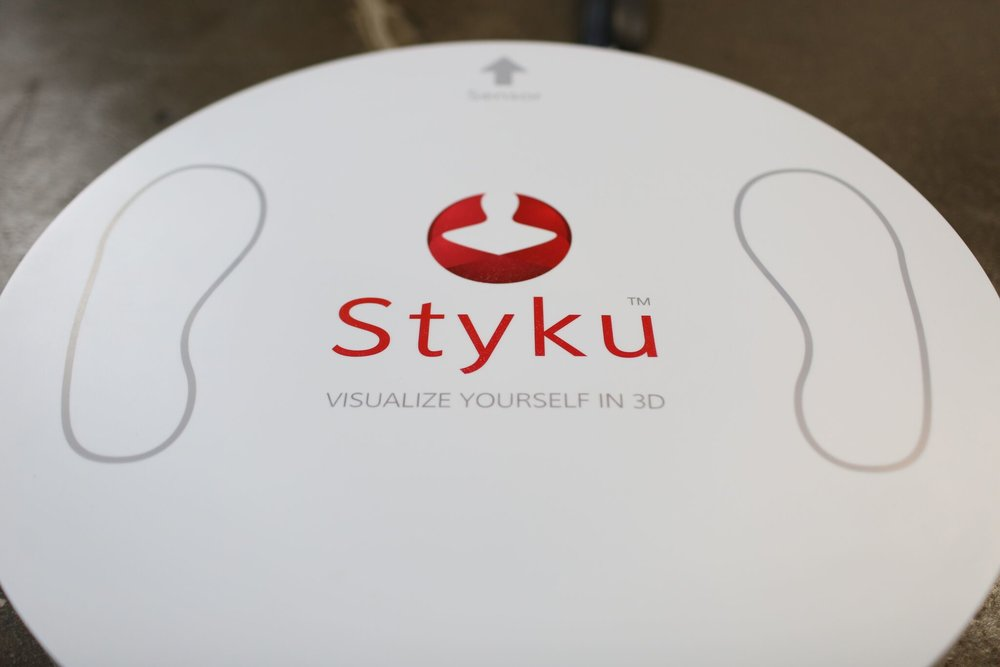 Styku Body Scanner - San Diego Fitness is home to the cutting-edge technology of the Styku 3D Body Scanner. Exclusive to very few locations throughout Southern California, the Styku Scanner is able to scan an individual's body shape and composition in seconds. Clients are then able to set targets and track progress to achieve individual fitness, nutritional, and fat loss goals. A full 20+ page report is included with every scan, which includes body composition, circumfrance measurements, postural analysis, health & fitness metrics, and more.