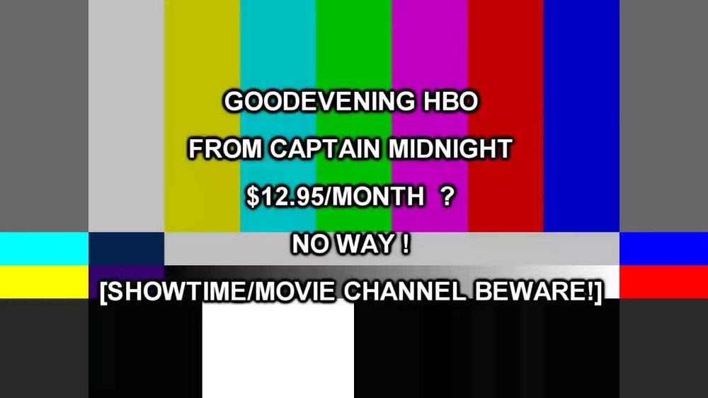 Captain Midnight Message