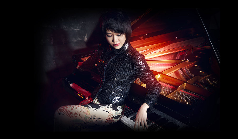 Pianist and classical music sensation Yuja Wang, from the artist's press kit