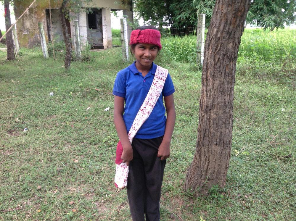 Manju ready for an excursion.jpg