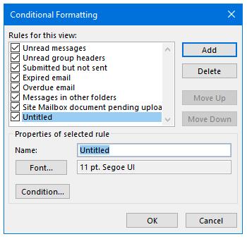 Step 3. Change Font color, click Condition.
