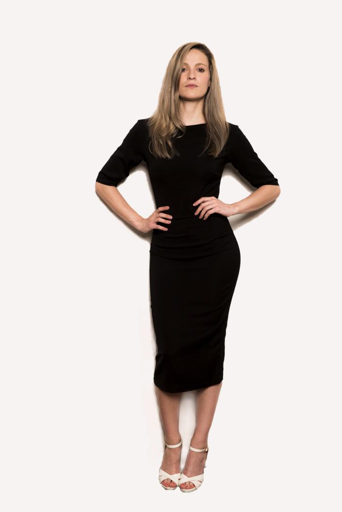 Classic Black Dress by HMETE