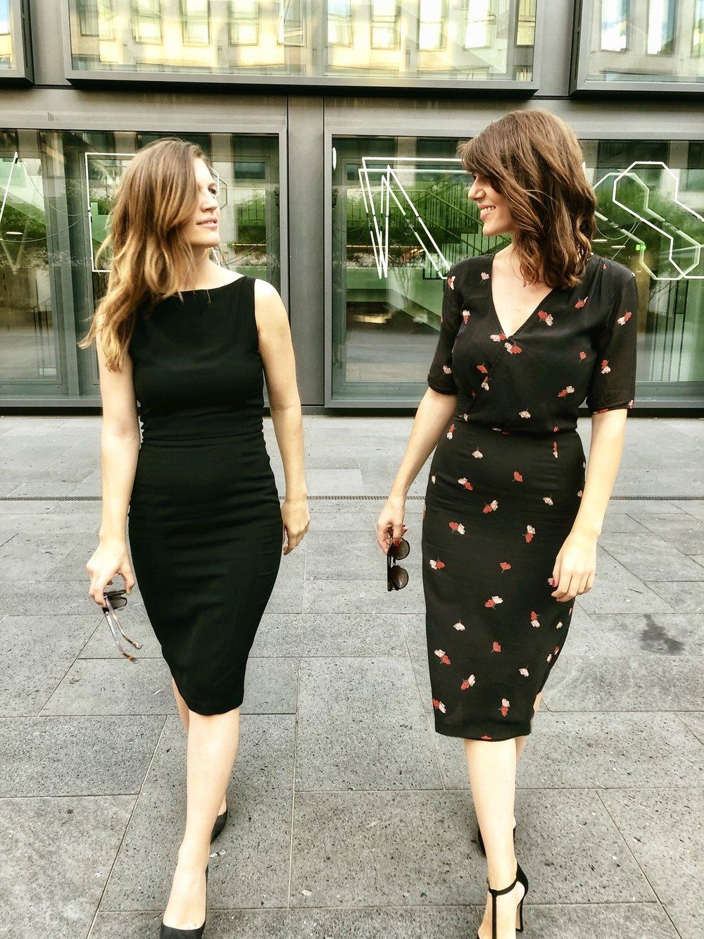Silk Poppy Dress on the right.