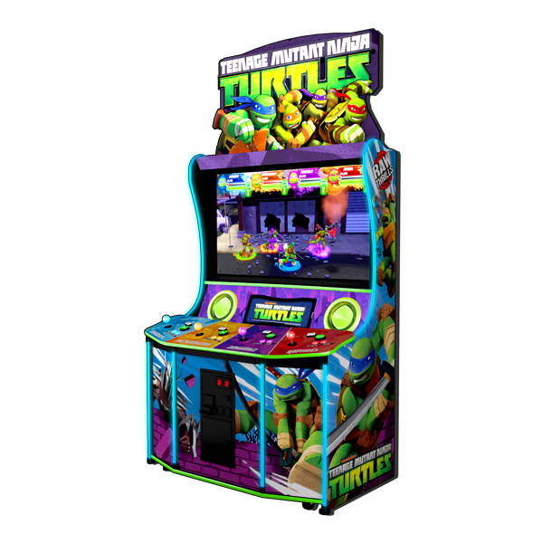 """Teenage Mutant Ninja Turtles   Join The Intrepid Teenage Mutant Ninja Turtles In A New Arcade Adventure!   This new 4 player action/adventure amusement game inspired by the arcade classic """"Teenage Mutant Ninja Turtles: Turtles in Time"""" and based on the current hit animated series by Nickelodeon."""