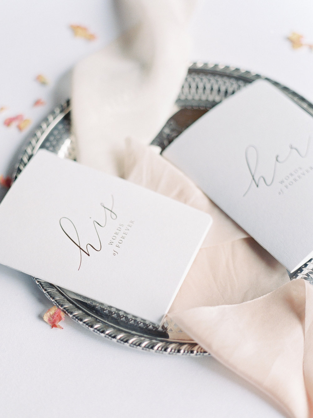 Photography | Ava Maria Photo  Vow Booklets | Paper Plum  Ribbon | Honey Silks Co.  Styling | To Be Loved Events