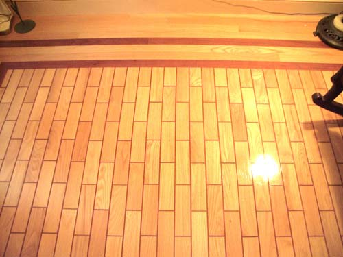 Wood tile treatment adds character to any room