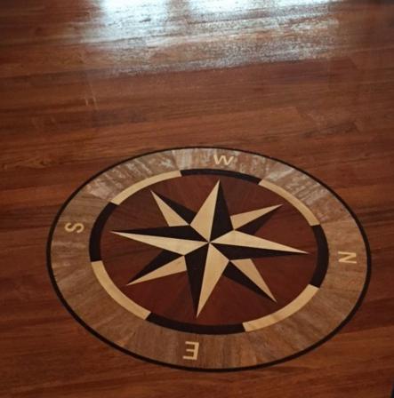 Completed custom sundial